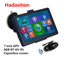 7 inch Capacitive screen SAT NAV Car GPS Navigation 8GB BT AV-IN+Wireless rearview camera+Free new Maps,Reverse Parking System,(China)