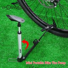 XXF Bicycle Air Pump Aluminum Alloy Bike Pressure Inflator Foot Type Air Tire Pump Barometer F/V and A/V with Mounting Bracket