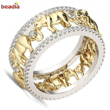 Temperament 1pc/bag 7 Different Sizes Rings For Women Lady Gold Filled Wedding Party Engagement Love Ring Valentine's Day(China)
