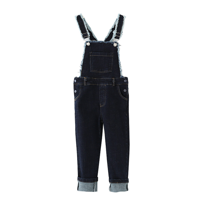 4 to 14T kids &amp; teenager big girls black white jeans overall casual pants children spring autumn suspenders trousers jumpsuit<br><br>Aliexpress