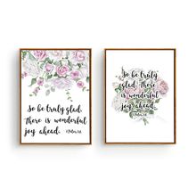 Bible Verse Canvas Art print Poster, Wall Decoration Bible Verse, Rose Flowers Wall Picture CM030-1(China)