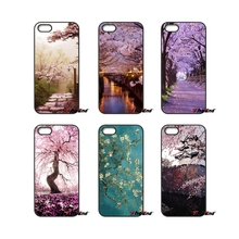 For Sony Xperia X XA XZ M2 M4 M5 C3 C4 C5 T3 E4 E5 Z Z1 Z2 Z3 Z5 Compact Pink Cherry Blossom Japan Sakura Cell Phone Case(China)