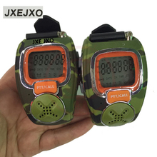 JXEJXO wrist watch walkie talkie mini two way radio talkie walkie Free Talker RD-008B 2 pieces/lot(China)