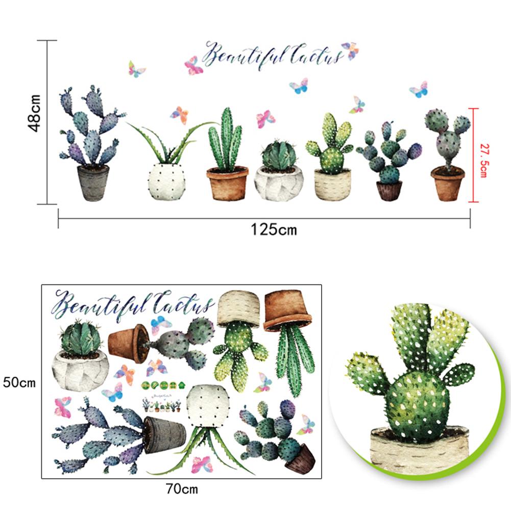 HTB1CrCHbZic eJjSZFnq6xVwVXaN - Creative Pot Plant Cactus Wall Sticker