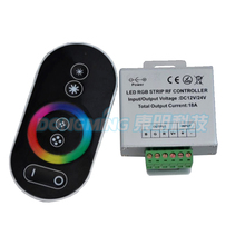 DC12V 24v 216W RGB LED Touch controller Wireless RF LED Controller Touch Panel LED Dimmer RGB Remote Controller