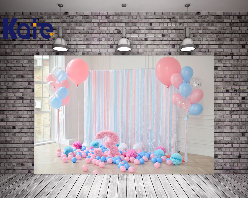Kate 300x200cm Children Photo Backdrops Birthday 3st Newborn Balloons Birthday Party Indoor Backdrops for Photography <br>