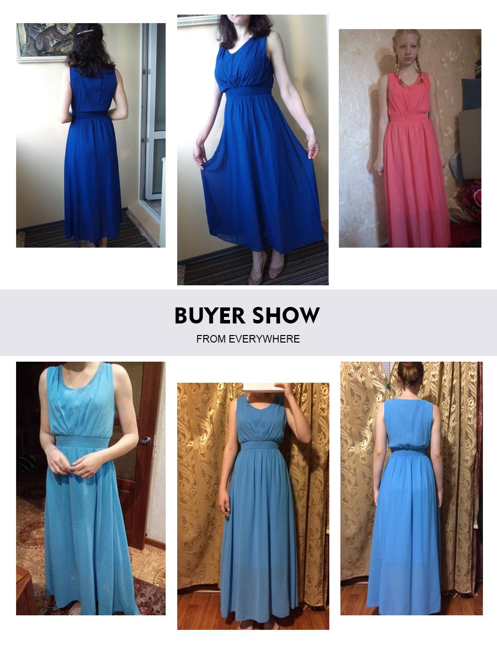 Bohemian Dress Slim Sleeveless Beach V-Neck 6 Color Cute Style (Us 6-12)