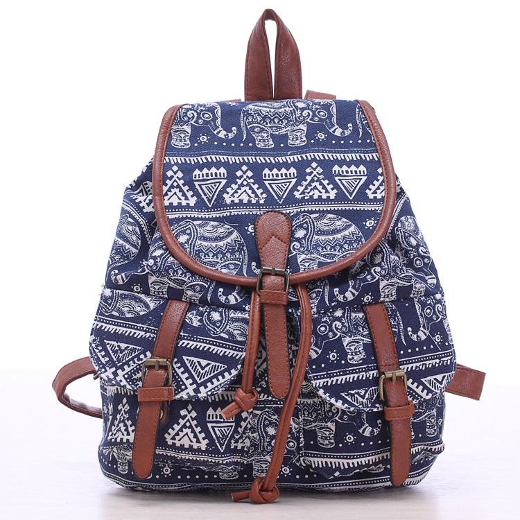 Vintage Womens Canvas Travel Rucksack Hobo printing School Bag Satchel Bookbags Retro chic casual female Backpack Baok-876<br><br>Aliexpress