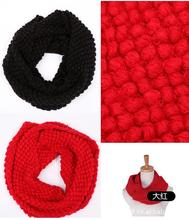 Fashion Autumn Winter Warm Yarn Knitted Ring Corn Scarf Men women bib Circular Neckerchief Cape Muffler Maize Wraps(China)