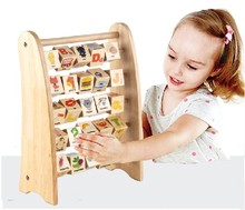 Wood Tunr plate literacy recognition number of Alphabet calculation frame maths toys(China)