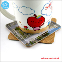 Drinking cup customized promotional gifts coasters/coaster decoration/table mat Customized only welcome customer design(China)