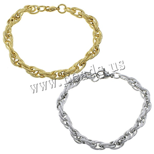 Women Men Stainless Steel Bracelets Bangles Silver Gold Rope Link Chain Jewelry Accessories Friendship Wristbands