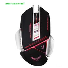 ZERODATE X400 Wired Gaming Mouse USB Optical LED Lights Mouse Gamer 7 Button 3200DPI Ergonomic Computer Mouse For PC Laptop