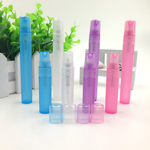 4 Colors 5ml 10ml Portable Spray Refillable Perfume Bottle Atomizer Empty Bottles Plastic Cosmetic Containers Travel Case Z25(China)