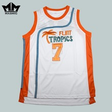 MM MASMIG Semi Pro Coffee Black 7 Flint Tropics Basketball Jersey White Free Shipping S M L XL XXL XXXL(China)
