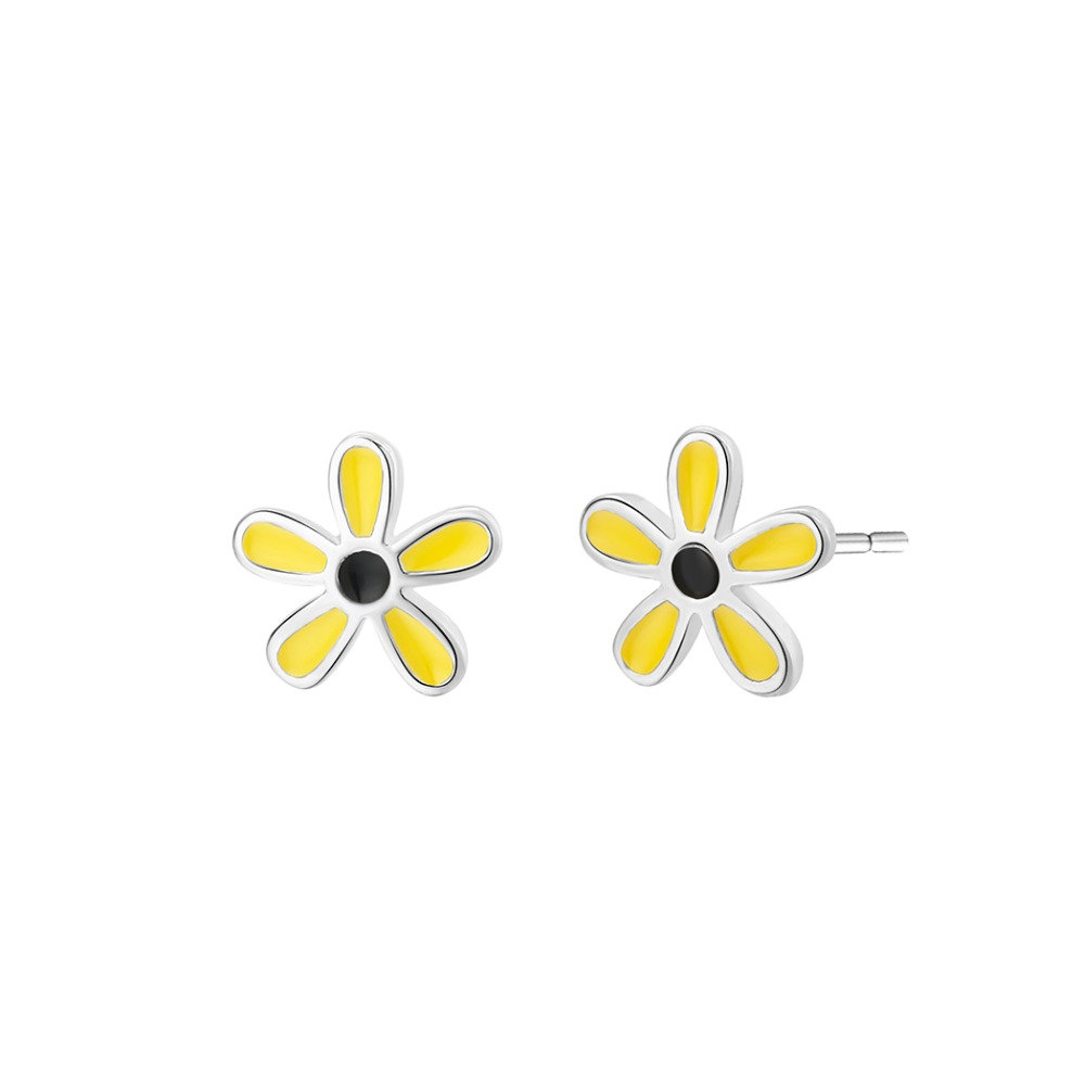 QIAMNI-Romantic-Enamel-Tiny-Yellow-Flower-Stud-Earrings-for-Women-Girls-Wedding-Gift-Boucle-d-oreille