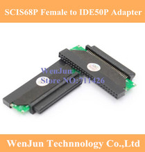 HPDB68F/IDE50pin SCSI Adapter 68PIN Female IDE50 Connector Plug SSD adapter card(China)