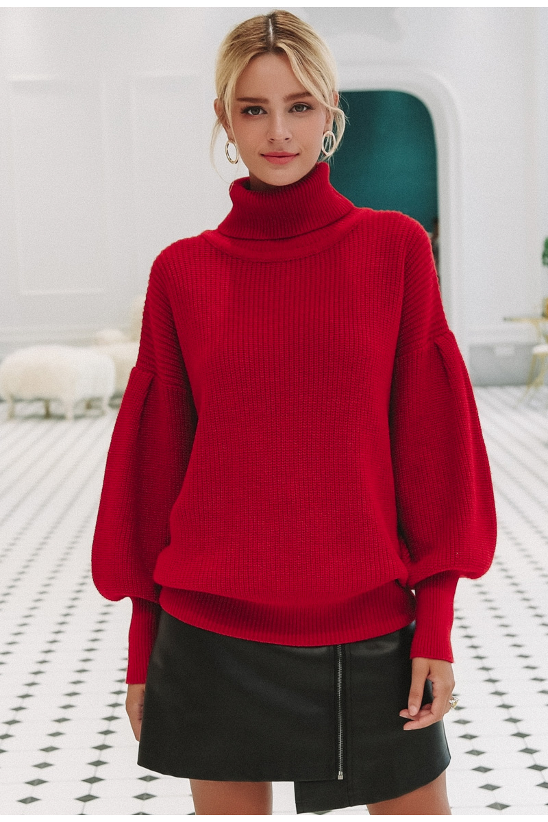 Turtleneck pullover Knitted sweater