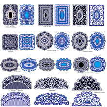 Metal Cutting Dies Stencil Craft Antique Hollow Flower Grid Embossing Cut Dies For DIY Scrapbooking Card Album Photo Decoration(China)