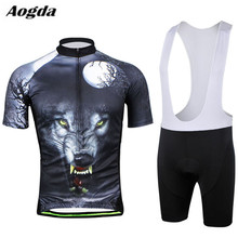 Buy Aogda Men Cycling Jersey, Bib Sets Bike, Bib Clothing Suits ropa ciclismo Bicycle Team Jersey Shorts Wolf mtb Wear Shirts for $29.55 in AliExpress store