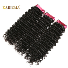 Karizma Peruvian Deep Wave Hair Bundles 8-28inch Non Remy Hair Weave Natural Color Can Be Dyed 1 Piece Only Human Hair Extension(China)