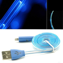LED Charger Light up Charging Cable Luminescent Visible Current Smart Charger & Sync Cable for Apple Iphone 5/5s/5c/6/6 Plus
