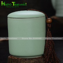 [HT!] Ruyao porcelain tea jar kitchen storage jars tea caddy containers ceramic jar tea canister kitchen accessories candy jar