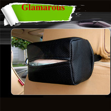 new paper napkin storage box advanced leather series for all cars Truck styling Quick Installation
