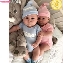 Buy Culbutomind Cotton Short Sleeve Blue Pink Double Trouble Print Twins Baby Bodysuits Baby 1st Birthday Shower Gift Twins Clot for $10.20 in AliExpress store