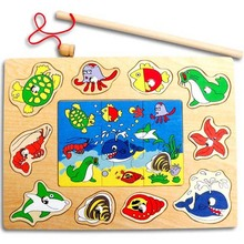 Deluxe 10-Piece Magnetic Fishing Game(China)