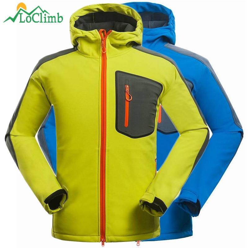 LoClimb Winter Softshell Jacket Waterproof Windproof Outdoor Sport Windbreaker Men Trekking Climbing Ski Hiking Jackets,AM103<br>