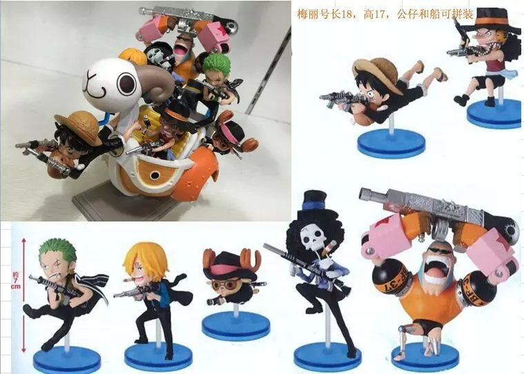 Free Shipping 8pcs One Piece Anime Going Merry Solid Set the 105th PVC Action Figure Collection Model Toys (8pcs per set)<br><br>Aliexpress