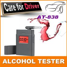 HOT SALE Free shipping AT-838 Patent digital alcohol tester with mouthpiece Breathalyzer High Quality