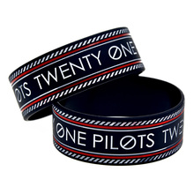 Promo Gift New Arrived 1PC Twenty One Pilots Silicone Bracelet 1'' Wide Band