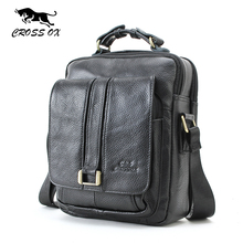 CROSS OX Business Men Genuine Leather Bag Natural Cowskin Men Messenger Bags Vintage Men's Cowhide Shoulder Crossbody Bag SL053M(China)