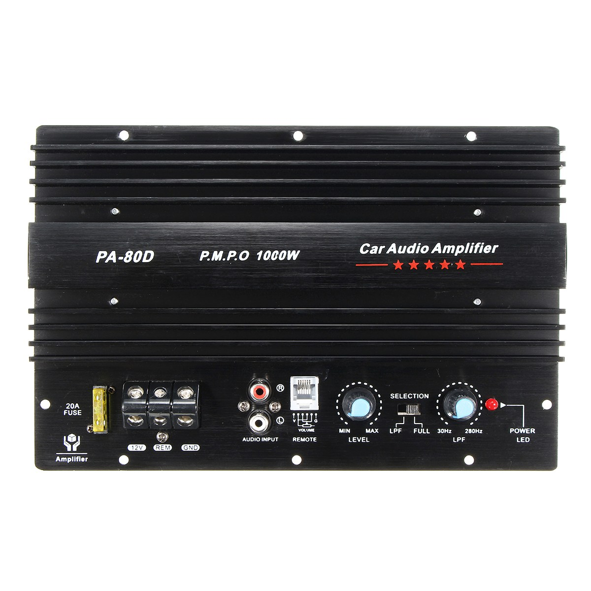 2017 NEW Arrival 12V 1000W Mono Car Audio Power Amplifier Powerful Bass Subwoofers Amp PA-80D<br>
