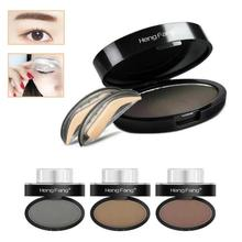 Eyebrow Stamp 3D Tattoo Shaping Effect Eyes Makeup Eyebrow Powder Delicate Perfect Make Up Cosmetics free shipping A5
