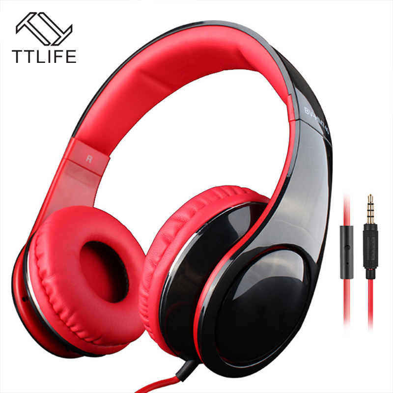 TTLIFE New Wired Headphones Bass Sound Earphone  Noice Canceling With Microphone for ios Android Smartphone PC All 3.5mm Devices<br><br>Aliexpress