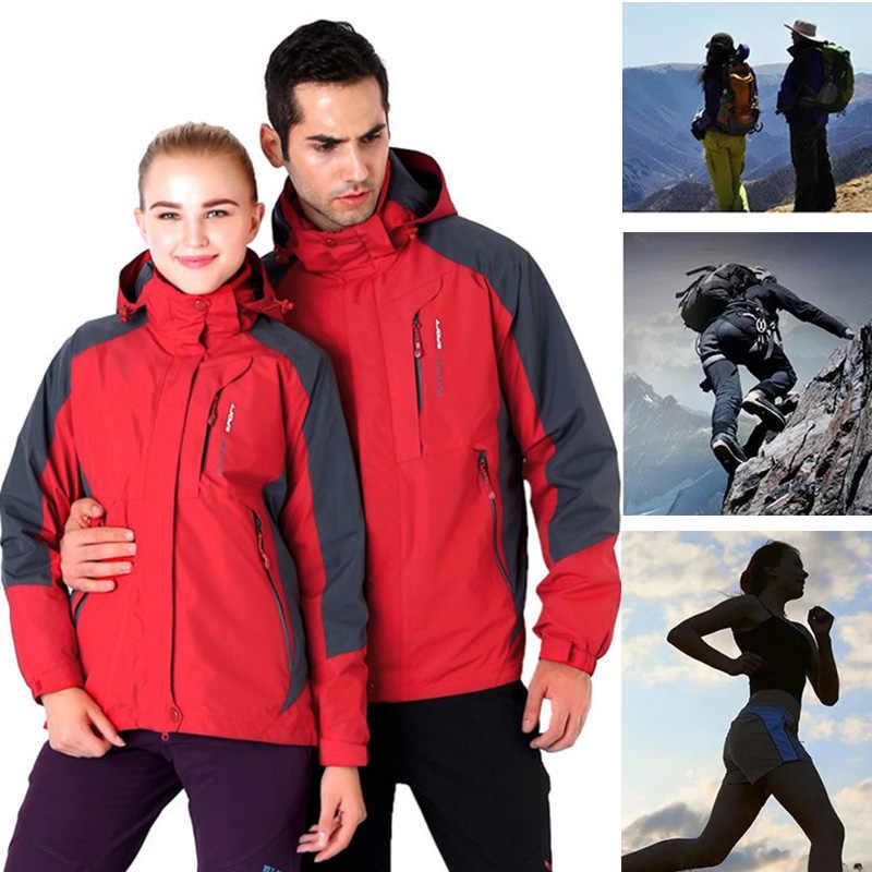b3c2d459ec54 Зимняя Лыжная куртка для мужчин и женщин, одежда для пар, непромокаемое  дождевик, спортивная