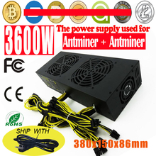 Buy High 3600W Mining Power Supply Eth ZEC Rig Bitcoin Miner Antminer S7 S9 L3+ D3 Mining Platinum Power Supply for $320.00 in AliExpress store