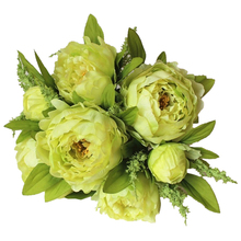 UESH-(7 heads/bunch) Silk / Simulation / Artificial Flower Peony Bouquet