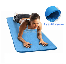 2017 New Extra Thick 71-Inch NBR Comfort Foam Fitness Yoga Mat Gymnastics Mats for Exercise Yoga Sport Pilates Men and Women