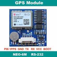 RS232 UBLOX NEO-6M GPS module with cirocomm antenna RS-232 level with EEPROM(China)