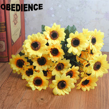 OBEDIENCE 6 pcs New Arrival Sunflower Artificial Flower,Home Decoration Flower Bouquet Wedding Party Dance Props Flower(China)