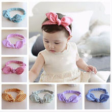 Hair Accessories Toddler Children's Rabbit Ear Hair Bands Hair bands Baby Cotton Bow Head Bands Headbands(China)