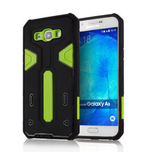 For Samsung Galaxy A8 [Cool Robot] PC + TPU Hybrid Cell Phone Back Case Armor Cover Dust Plug Drop Protection Fashion