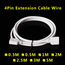 1M 2M 5M 30cm 4 PIN RGB led connector Extension Cable cord Wire with 4pin for SMD 5050 3528 RGB LED Strip light(China)
