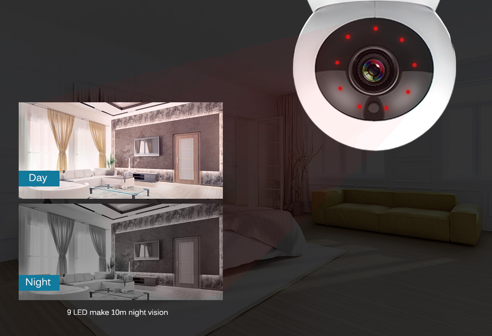 ip camera pan tilt night vision