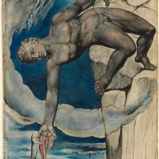 Antaeus Setting Down Dante And Virgil In The Last Circle Of Hell Poster Print by William Blake (36 x 54)