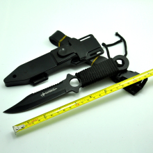 Hot Sale, Fixed Blade Knife Survival knife camping Knife 3Cr13 Blade Titanium Knives 57HRC + Plastic sheath
